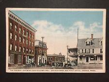 Antique POSTCARD c1910-30 The Square Savings Bank Odd Fellows ORANGE, MA (20585)