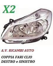 COPPIA FARI FANALE PROIETTORE ANTERIORE DX-SX RENAULT CLIO DAL 2005 A 2009 H7-H7