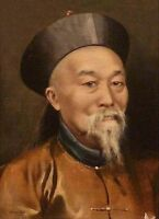 """handpainted oil painting""""official li hong zhang in the Qing Dynasty """"@3169"""