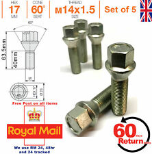 Car Alloy Wheel bolts M14x1.5 40mm extended Thread taper for Audi x 5