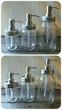 MASON JAR SOAP DISPENSER Quality STAINLESS STEEL PUMP VINTAGE BALL JARS