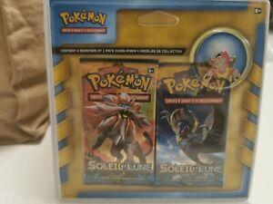 Pack de 2 boosters Pokémon Soleil et Lune SL1 neuf scellé avec pin's Hoopa
