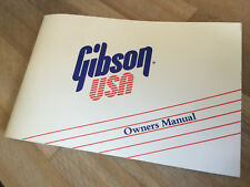 1989 Gibson Guitar Owners Manual Les Paul Jr SG ES 175 335 Flying V Explorer Etc