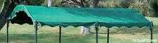 Top telo copertura ricambio per gazebo ad onda 3x4 Mt CarPort verde Poliestere