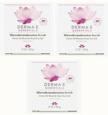 Derma E Essentials Microdermabrasion Scrub (2 oz) EXP 8/22 - Lot of 3 New Sealed