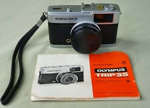 Vintage Olympus TRIP 35 Compact 35mm Film Camera with Instructions