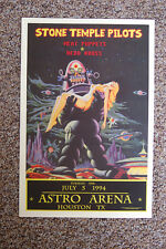Stone Temple Pilots Concert Tour Poster 1994 Astro Arena Houston Tx