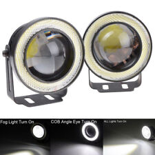 "2 X 2.5"" 64mm White LED COB Halo Angel Eye Rings Autos Fog Light Projector Lamps"
