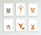 Forest Animals Pictures / Prints For Baby Room / Nursery / Bedroom / Unisex
