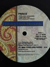 """PRINCE - IF I WAS YOUR GIRLFRIEND1987 12"""" PROMO VINYL"""
