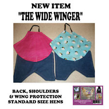 1 WIDE  w WING Chicken Saddle Apron Hen BACK FEATHER PROTECTION BACKYARD POULTRY