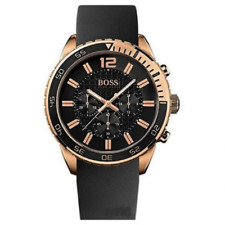 NEW HUGO BOSS 1512931 MENS ROSE GOLD CHRONOGRAPH WATCH - 2 YEAR WARRANTY