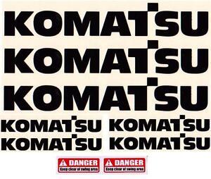 LARGE 550mm KOMATSU Decals Stickers for Digger Excavator Pelle Bagger