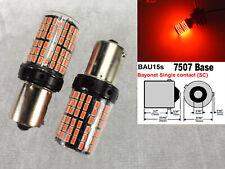 Front Turn Signal BAU15S 7507 PY21W samsung 144 Projector LED Red Bulb W1 JAE