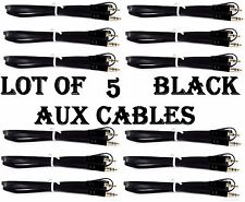 LOT OF 5 BLACK AUX CABLES AUXILIARY CORD Male Stereo Audio Cable iPod MP3 CAR