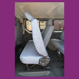 Renault Trafic Minibus 01-14 Rear 2nd Row Grey Tailored Waterproof Seat Covers