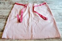 Womens LL Bean Pink White Striped Skirt Size 20