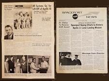 2 Apollo 10 Employee Newsletters - KSC Spaceport News & Rockwell Skywriter