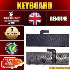 For 454RX DELL INSPIRON Matte Black Keyboard UK Layout No Frame