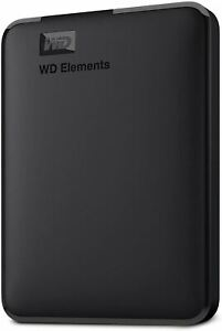 WD 4TB Elements Portable External Hard Drive HDD, USB 3.0, Compatible with PC, M