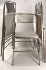 Set of 3 Mid Century Samsonite Folding Metal Chairs