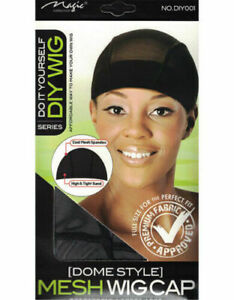 Magic Do it Yourself Spandex Mesh Dome Wig Cap Cool Mesh with Tight Band DIY001