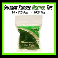 10 BAGS SHARROW  KINGSIZE MENTHOL  FILTER TIPS (2000 TIPS)   CHEAPEST ON EBAY