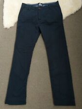 0d7767a0af9 Superdry Pants Limited Edition Toyko 5 Navy Blue Chino Style Pants 100%  cotton