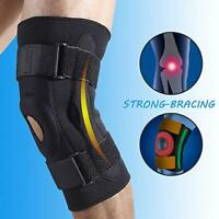 Double Metal Hinged 3 SIZES! Full Knee Brace Adjustable Metal Support CA STOCK