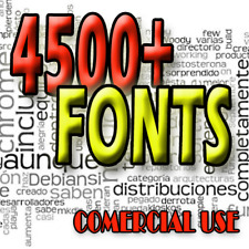 4500 Fonts Collection for comercial use, Professional Pack. TTF, OTF, True Type