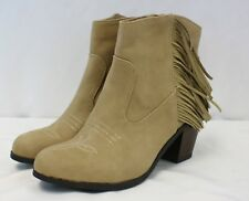 New Women's Sam & Libby Watson Fringe Ankle Booties Boots 6