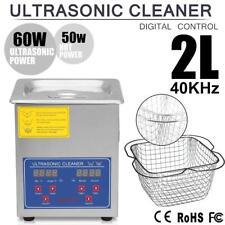 2L Lavatrice Pulitore ad Ultrasuoni Pulitrice Vasca Ultrasuoni Cleaner + Cesto