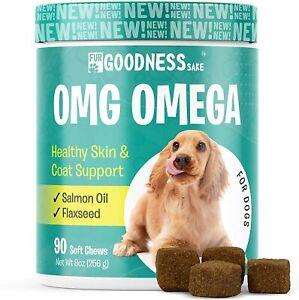 Fur Goodness Sake OMG OMEGA Healthy Skin & Coat Support for Dogs 90ct - 09/2023