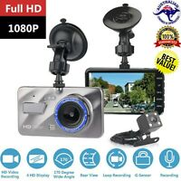 2 Channel Dash Cam Dual Lense 1080P HD Dash Cam Front Rear Car Recorder TruckNEW