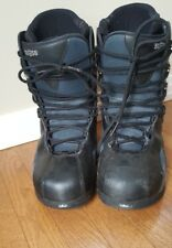 5150 Fiftyone Fifty Mens Snowboard Boots Size 9 Black Blue Canvas Lace up