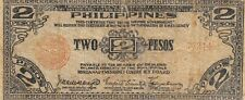 Philippines  2  Pesos  Series of 1942  A  WWII Issue  Circulated Banknote CCP