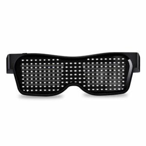 Led Party Glasses USB Charge Luminous Eyewear App Control Bluetooth Customized