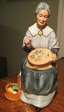 """Vintage Royal Doulton Figurine """" Embroidering """" Hn 2855 1979 - 8"""" Tall Signed"""