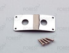 Rickenbacker® aftermarket dual jack plate, HJ006, Chrome with screws