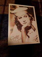 Postcard Of Movie Star Greta Garbo