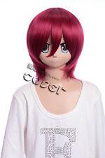 w-10-110 ROJO RED 33cm cosplay peluca peluca Corto Pelo ANIME MANGA