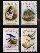 ANGUILLA 1980 Birds. Complete set of 4 stamps. LM Mint
