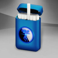 USB Recharge lighter and Cigarette Case Graphic LED display Electronic lighter