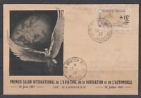 SUP LETTRE SALON INTERNATIONAL AVIATION MARSEILLE 17 6 1927 AFFT ORPHELIN YT 167