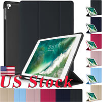 US Slim PU Smart Stand Shockproof TPU Case With Pencil Holder For ipad 2018/2017