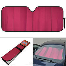 Foldable Jumbo Car Window Cover Sun Shade Auto Visor - Red Foil Relfective