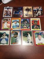 12 Card Baseball Lot Roger Clemens Babe Ruth Kirby Puckett Dion Sanders And More