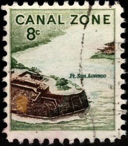 Canal Zone - 1971 - 8 Cents Fort San Lorenzo Definitive Issue # 159 Fine - VF