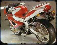Bimota Yb11 3 A4 Metal Sign Motorbike Vintage Aged