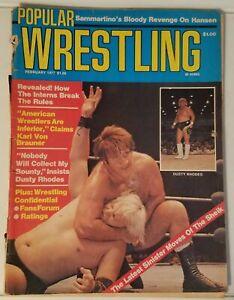POPULAR WRESTLING - DUSTY RHODES - FEB. 1977